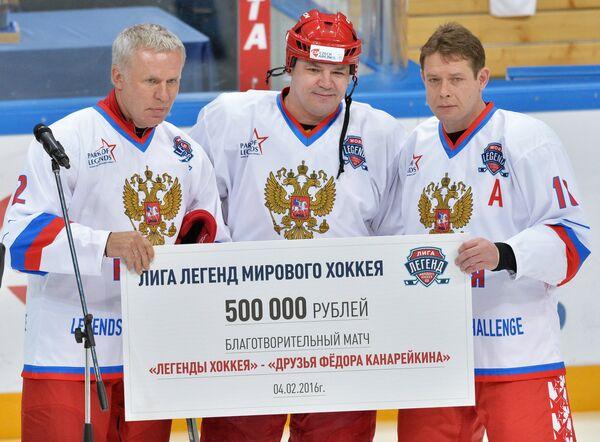 Вячеслав Фетисов, Андрей Коваленко и Павел Буре (слева направо)