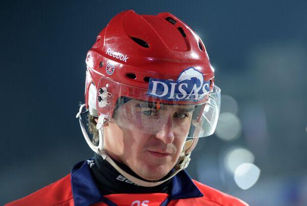 Игрок сборной России Сергей Ломанов