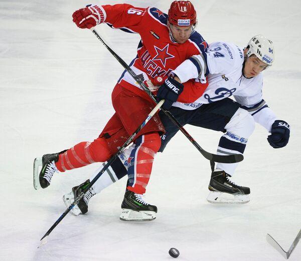 Игровой момент матча ЦСКА - Динамо (Москва)