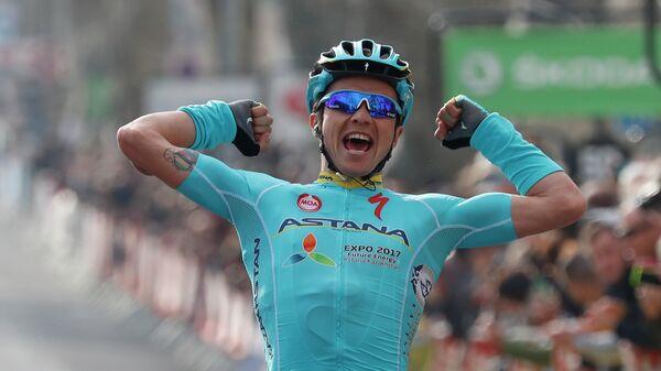 Казахстанский велогонщик Астаны Алексей Луценко
