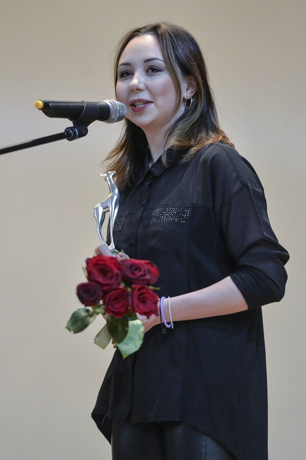 Фигуристка Елизавета Туктамышева на торжественной церемонии вручения премии Серебряная лань