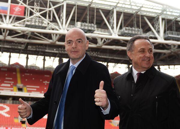 Джанни Инфантино (слева) и Виталий Мутко