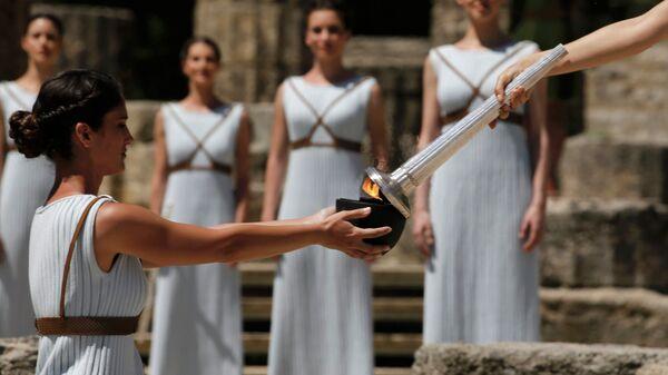 Церемония зажжения огня XXXI летних Олимпийских игр 2016 года