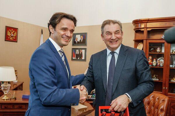 Любо Груич и Владислав Третьяк (слева направо)