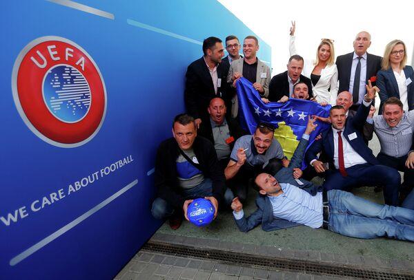 Делегация Федерации футбола Косово