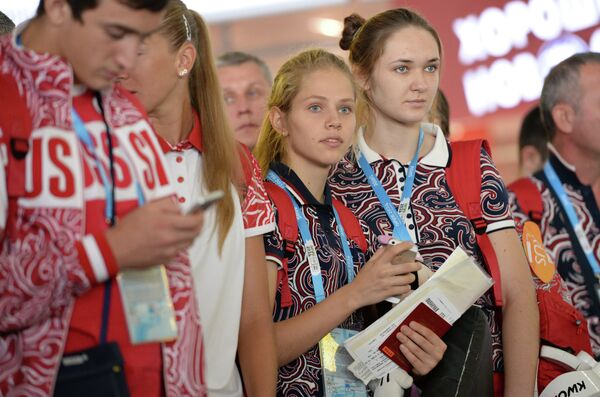Российские тхэквондистки Татьяна Кудашова и Юлия Турутина (слева направо)