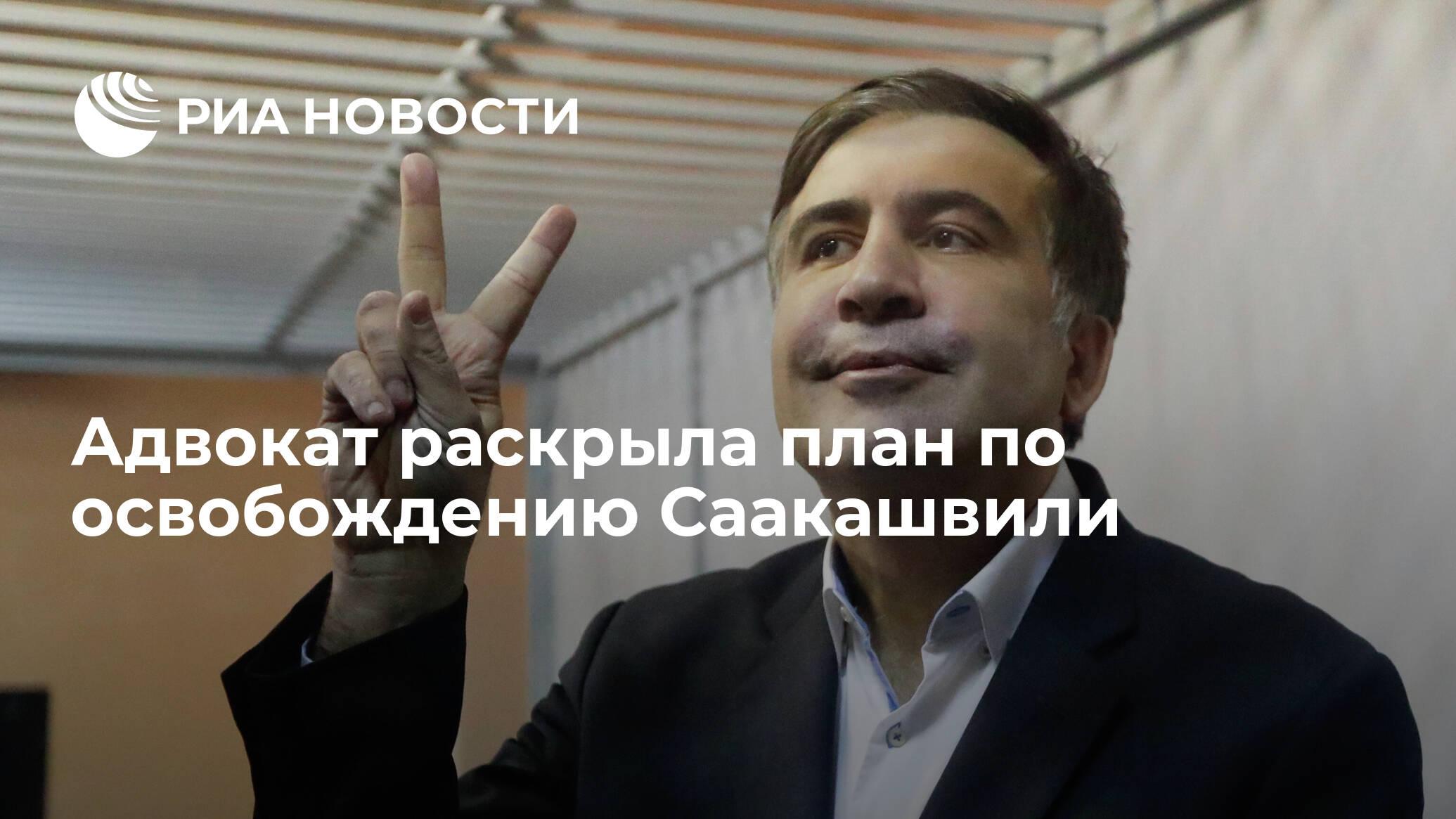 Адвокат раскрыла план по освобождению Саакашвили