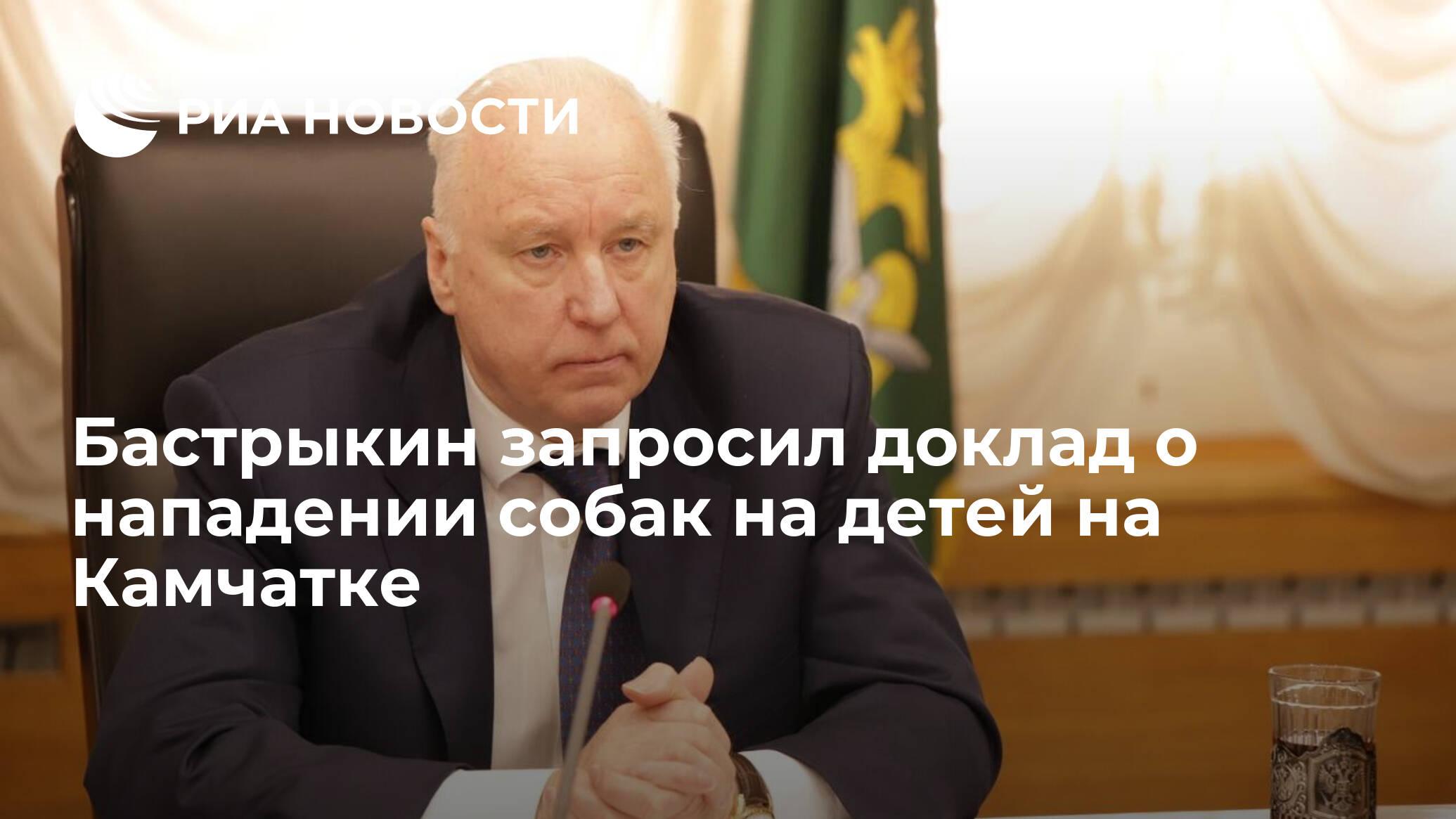 Бастрыкин запросил доклад о нападении собак на детей на Камчатке